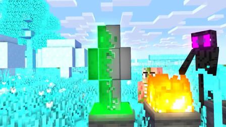 我的世界動畫-怪物學院-變凋靈骷髏挑戰-MineCZ