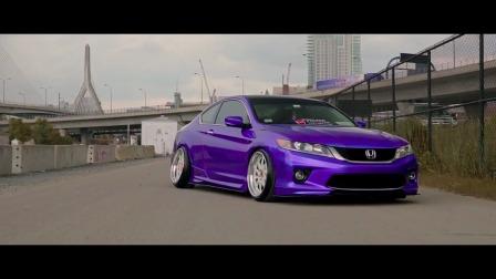 怎么样这款紫色的 本田雅阁改装车有没有心动?