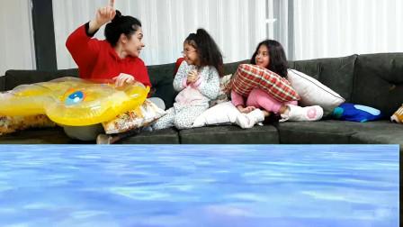 越看越精彩,小萝莉想到了什么好办法拯救水灾?亲子游戏儿童故事