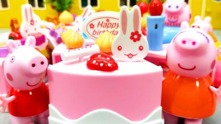 红果果小猪佩奇视频 第一季 猪妈妈过生日啦 小猪佩奇做生日蛋糕祝福妈妈