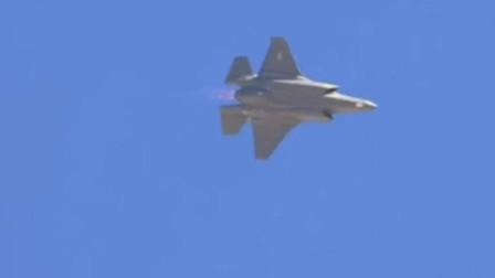 空中翻转滚动展示强劲机动能力,F-35A隐形战机动力强劲
