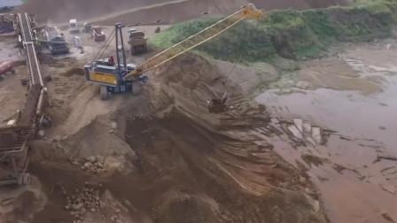 采砂场重型抓斗起重机挖掘河沙