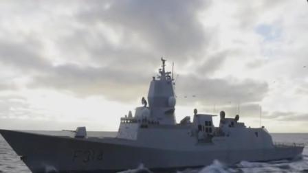 世界最小宙斯盾护卫舰为美国航母护航,挪威南森级宙斯盾护卫舰满载排水量5200吨