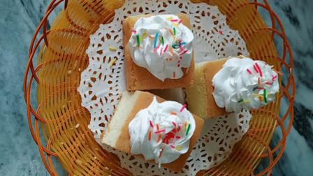 海绵奶油蛋糕的做法,制作教程详细,奶油香甜,学会不用买了