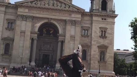 中国小伙浩然 bboyHR 在国外街头舞蹈solo