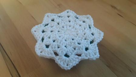 「钩针编织」漂亮的雪花隔热垫!