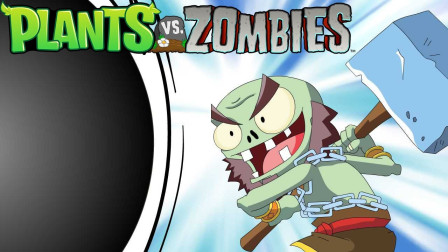 超难版植物大战僵尸08:敲僵尸小游戏,单身100年的手速要爆炸了