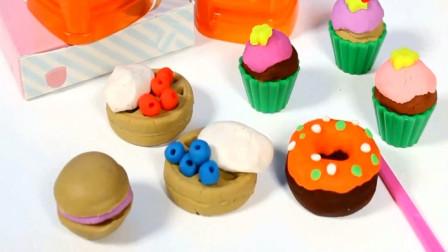 儿童手工创意玩具 太空沙彩泥制作纸杯蛋糕