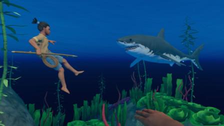 木筏求生 第158天 深更半夜大战大白鲨,恋墨和大白鲨有多大仇
