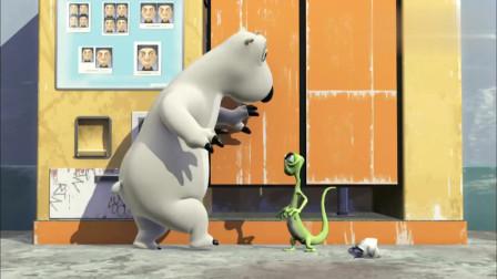 倒霉熊:倒霉熊看到别人照大头贴,故意把别人照片扔掉,果然坏!