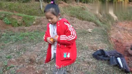 农村王四:四哥打石头,5岁幺幺送来橘子解渴,深深感受到小棉袄的温暖