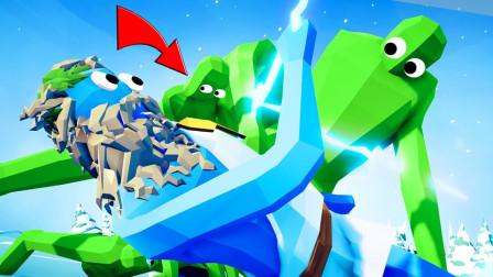 全面战争模拟器:寒冰之王奥丁神,虚空中召唤冰箭把人变冰雕?
