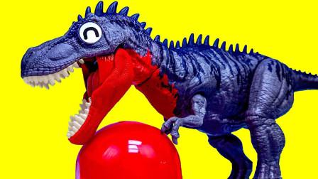 大大霸王龙寻找恐龙蛋拼装侏罗纪小恐龙