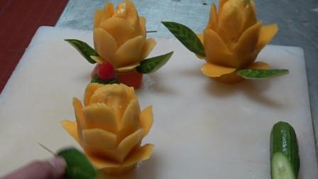 5星级酒店师傅是这样吃芒果的,看完感觉吃不起