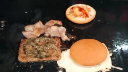 韩国这块汉堡,绝对秒杀一众肯德基麦当劳,配料不是一般的丰富