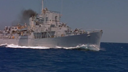 经典美国大片,被鱼雷击中冒撞向德国军舰,最具智慧的顶级海战