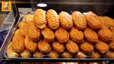 韩国街头小吃 玉米面包 korean street food