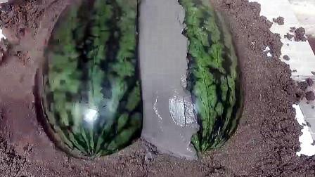 美女疯狂吐槽,以为好好的西瓜被浪费,看到成品时眼睛都直了!