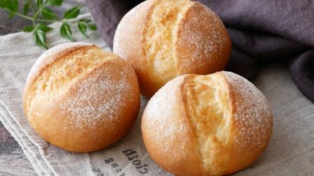 面点师教学烤面包做法,松软香甜,外焦里嫩,安全卫生无添加, 香