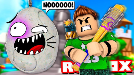小格解说 Roblox 鸡蛋打击模拟器:疯狂点击赚金币!全部被秒杀?乐高小游戏