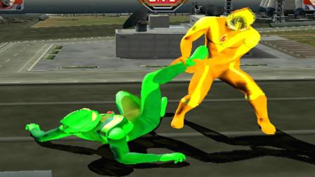 闪耀型戴拿VS绿色原谅迪迦,能赢吗?迪迦:你累死了都赢不了我