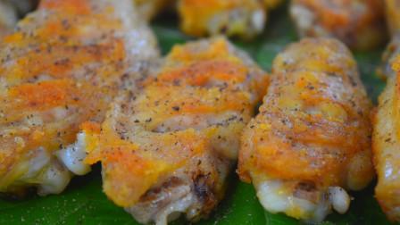 鸡翅最简单的做法,一腌一煎2步搞定,外酥里嫩,比可乐鸡翅还香