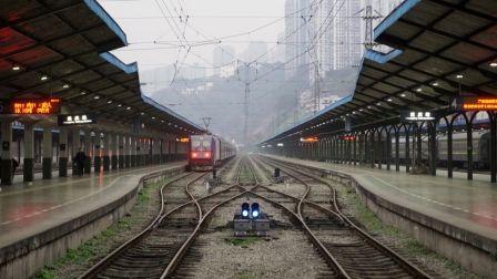 【4K中国铁路】连续弯道!成渝线改造段伪前方第一视角展望(POV)