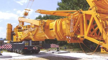 """自重400吨的""""巨型搬运机"""",臂长42米,施工效率能顶上千人"""