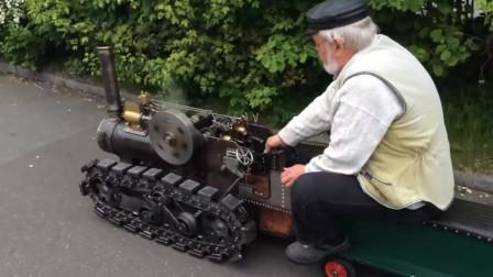这国外大爷也太牛了,出门坐骑都是蒸汽火车当专车