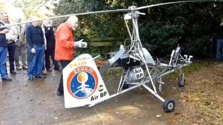 国外老大爷八十多岁自制飞机,居然还成功了