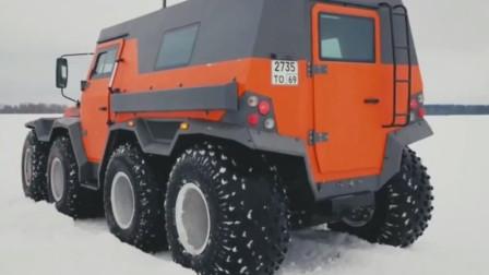非常适合西伯利亚冬季的超级越野车,强力两栖性能雪地泥泞路面奔驰如飞
