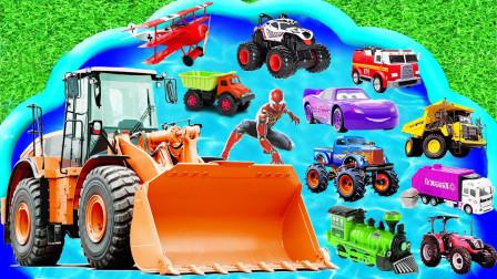 最新挖掘机视频表演10086大卡车运输挖土机+挖机工作+工程车