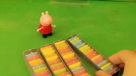 佩奇给家里买了很多糖,奥特曼拿走了佩奇的糖,爸爸就去找奥特曼