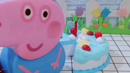 乔治吃了一块神奇的蛋糕,佩奇吃完也变强大,你想吃这么神奇的蛋糕吗?
