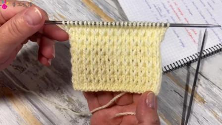 今天给大家带来镂空V字图案毛衣编织花样,简单又漂亮