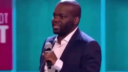 外国脱口秀:国外达人秀黑人小哥单人脱口秀语言滑稽,调侃文化差异!