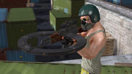 吃鸡动画:改装后的AK,一次能装320发子弹,8倍压枪超简单