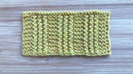 一款简洁有层次的棒针花样,针法简单,好织易学,织外套很大方毛线编织教程钩法