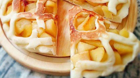 在家给孩子做酥脆香甜的苹果派  孩子再也不喊着去外面吃了