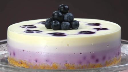 教你在家不用烤箱做蓝莓起司蛋糕