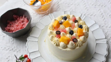 百香果芒果蛋糕的做法,小朋友怎么能不喜欢?