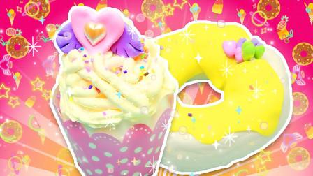 甜品派对蛋糕,甜甜圈和奶油蛋糕