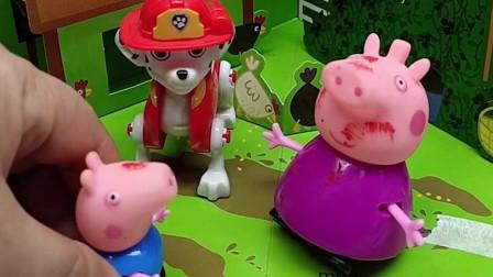 猪奶奶要给乔治做好吃的,可是乔治要吃热狗,快告诉猪奶奶什么是热狗吧!