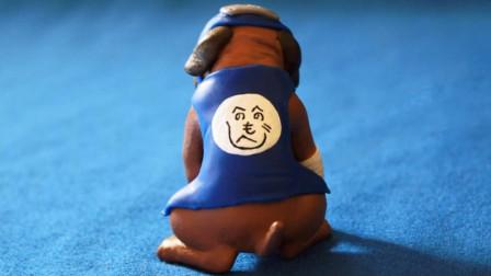火影忍者手工秀:手办大师用粘土捏了个卡卡西的通灵兽