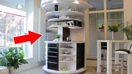 老外发明超紧凑旋转厨房,占地面积仅1.8平米,小户型的不二之选!