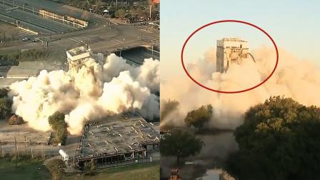 """实拍:美国一11层楼建筑被爆破拆除 一声巨响依然""""坚挺""""走红"""