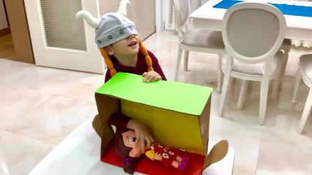 越看越搞笑,神秘玩具猜猜乐,小正太能猜对吗?儿童故事亲子游戏