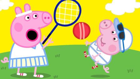 好玩!小猪佩奇和朋友打球吗?可是打坏什么东西?猪爸爸生气吗?儿童益智趣味游戏玩具故事