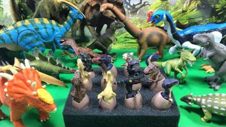 恐龙侏罗纪世界,恐龙蛋孵化霸王龙剑龙迅猛龙!