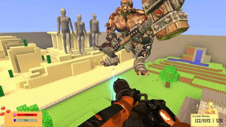 GMOD游戏大铁锤怪兽要破坏奥特曼石像怎么办?